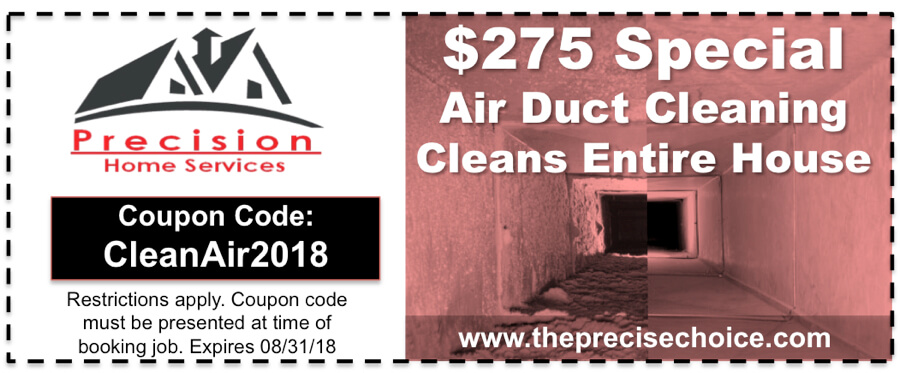 Air Duct Cleaning Coupon August 2018