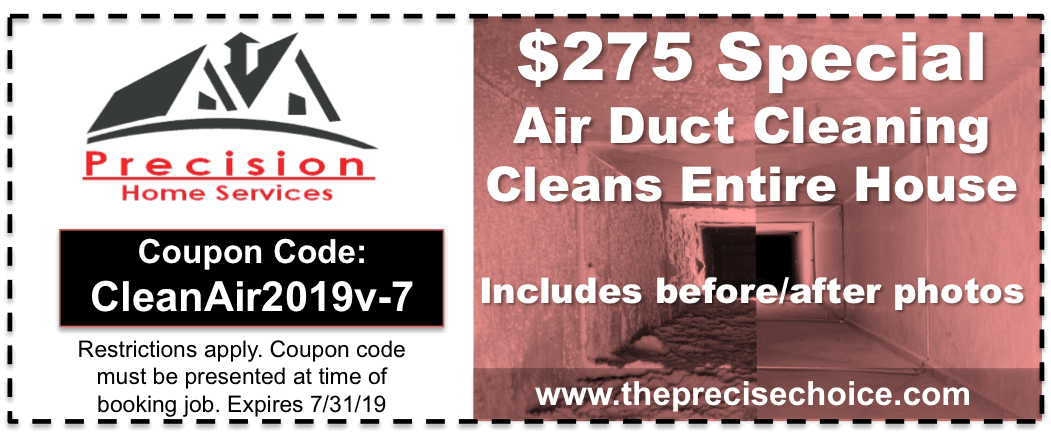 Air Duct Cleaning Coupon 2019