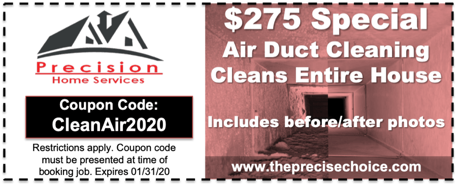 Air Duct Cleaning Coupon 2020