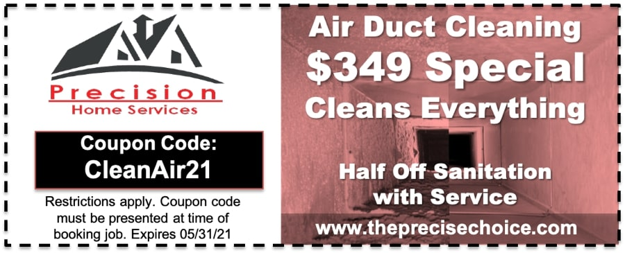 Air Duct Cleaning Coupon 2021